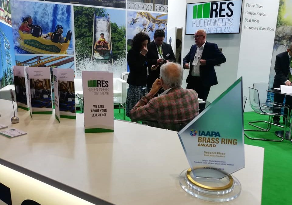 """Brass Ring Award"" for Ride Engineers Switzerland ""Best New Product Major Rides / Attractions"""